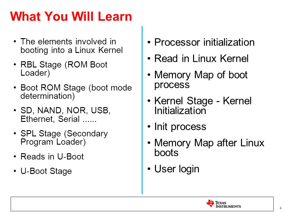 What You Will Learn Processor initialization Read in Linux Kernel