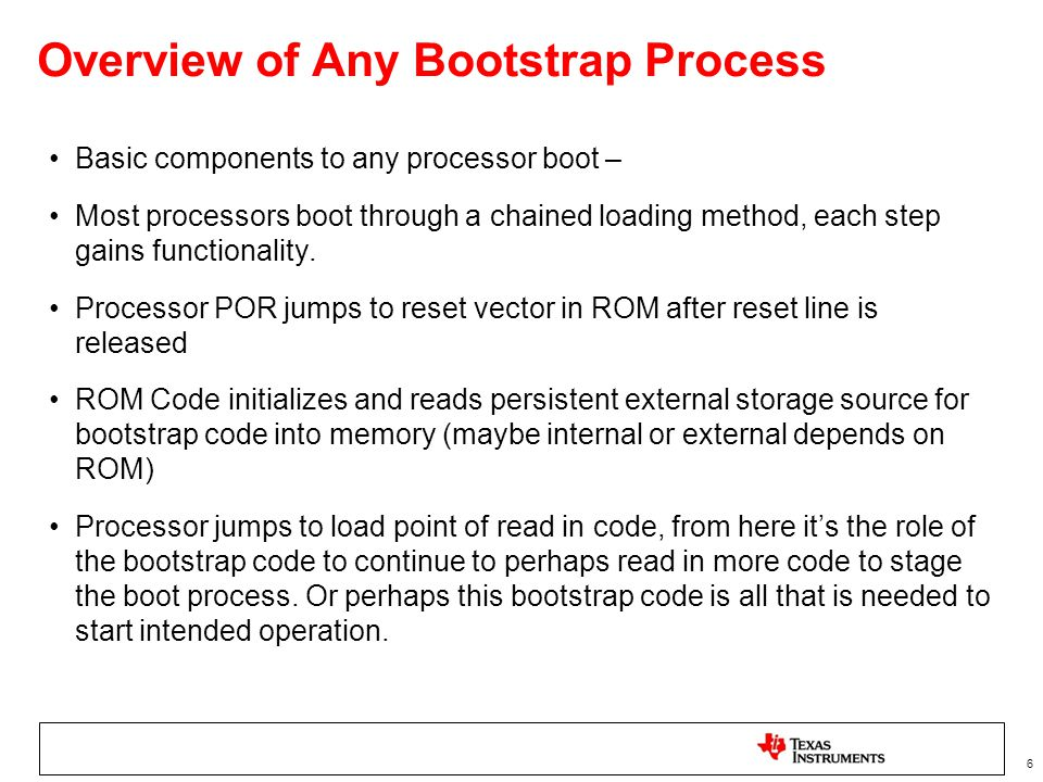 Overview of Any Bootstrap Process