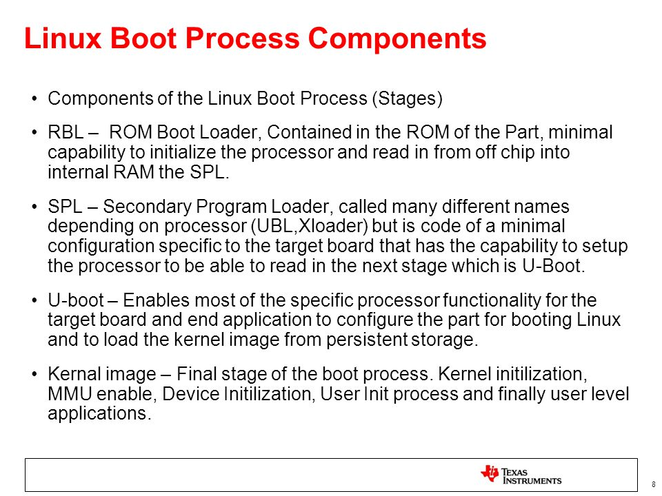Linux Boot Process Components