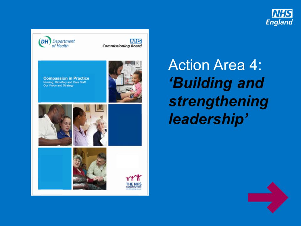 Action Area 4: 'Building and strengthening leadership'