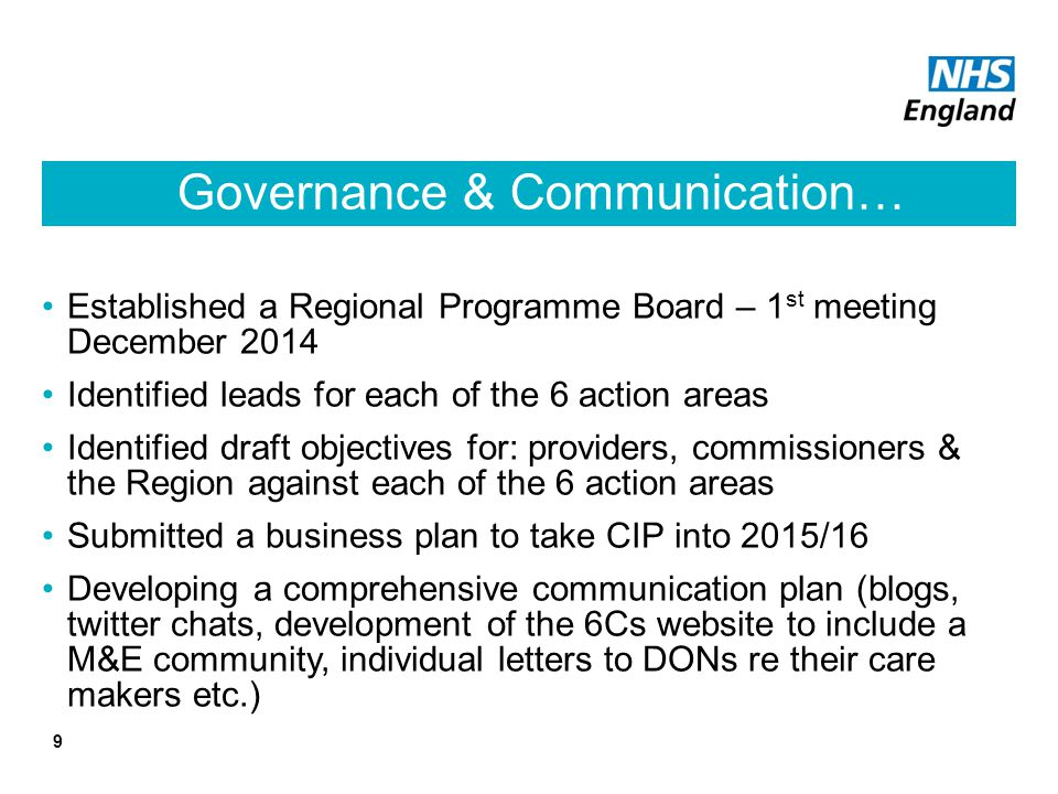 Governance & Communication…