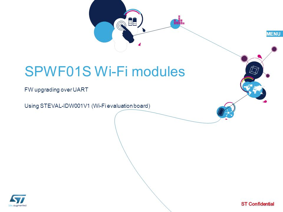 FW upgrading over UART Using STEVAL-IDW001V1 (Wi-Fi evaluation board)