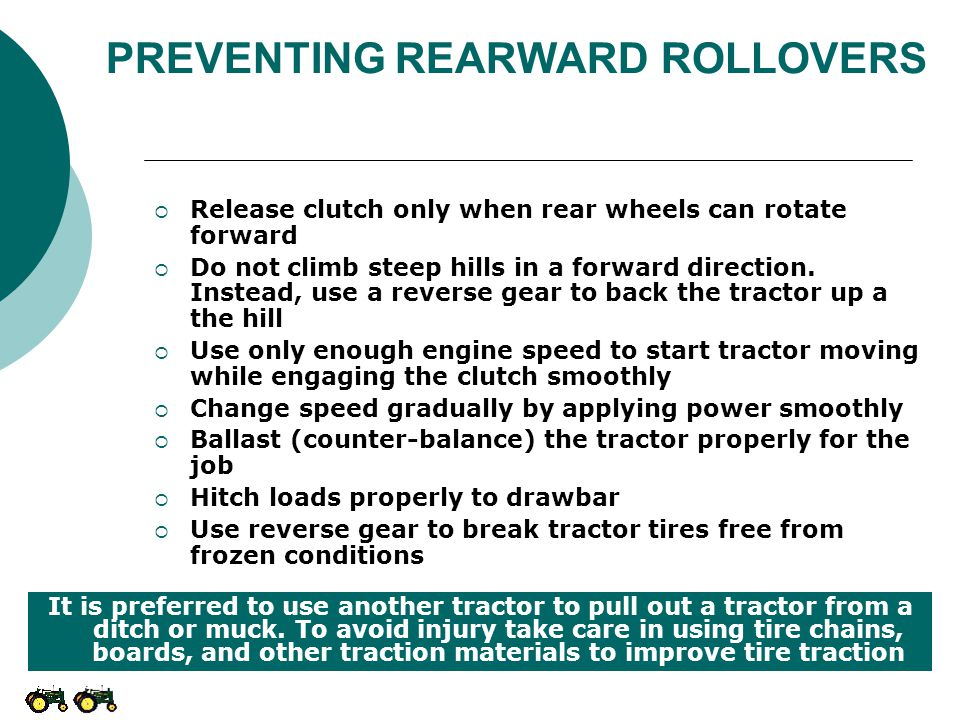 PREVENTING REARWARD ROLLOVERS