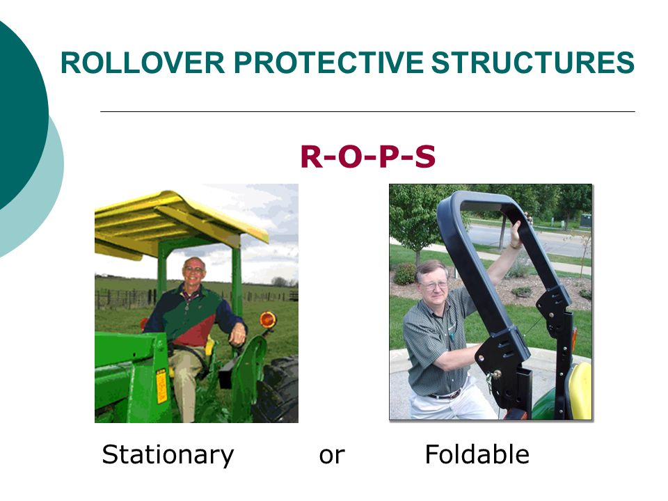 ROLLOVER PROTECTIVE STRUCTURES