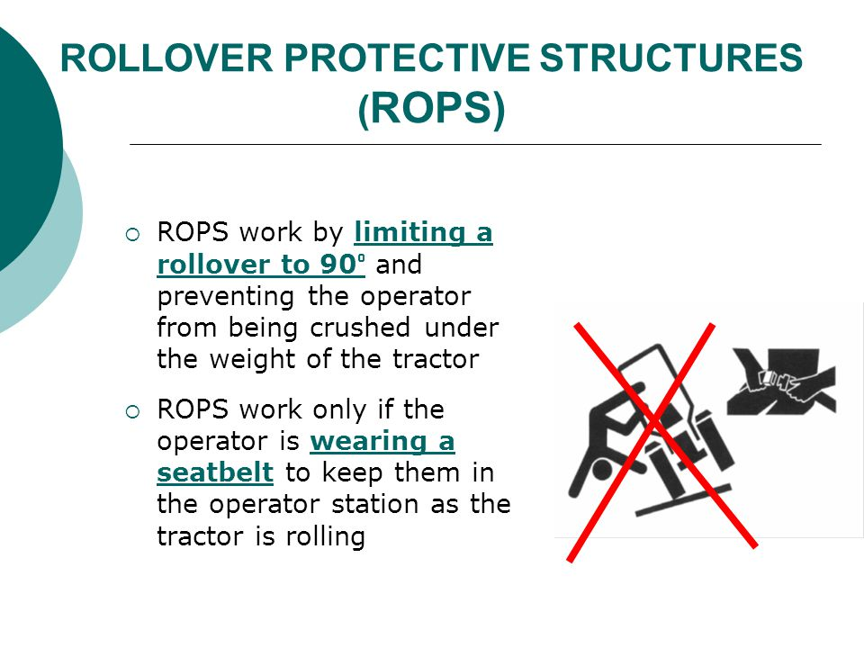 ROLLOVER PROTECTIVE STRUCTURES (ROPS)