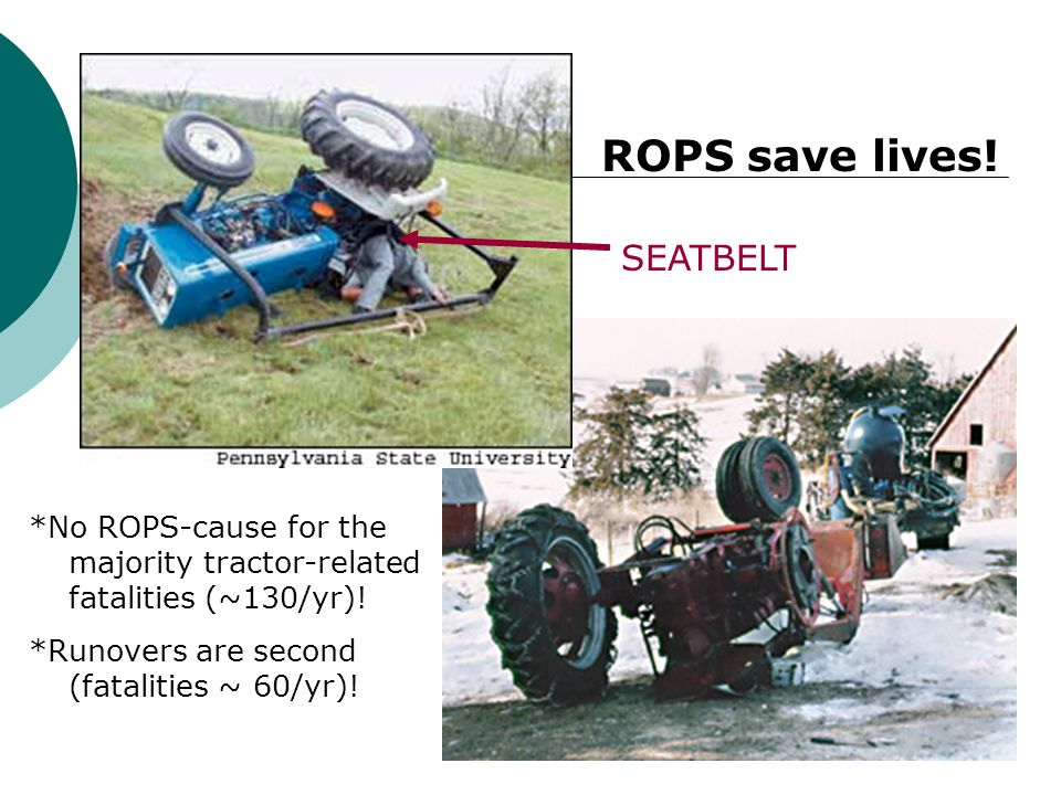 ROPS save lives! SEATBELT