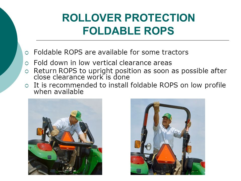 ROLLOVER PROTECTION FOLDABLE ROPS