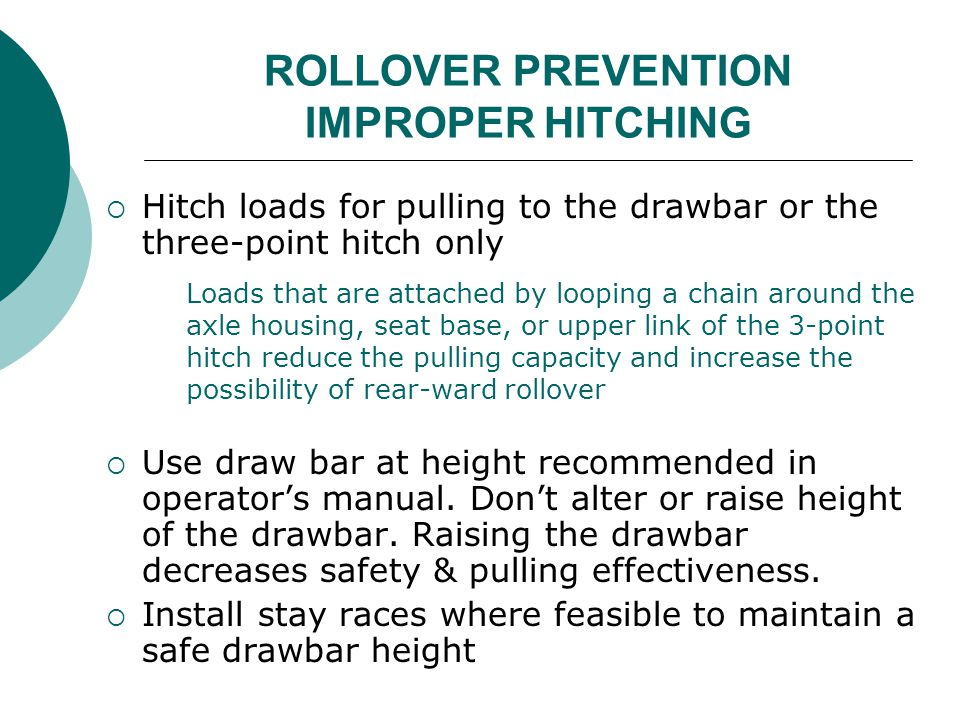 ROLLOVER PREVENTION IMPROPER HITCHING