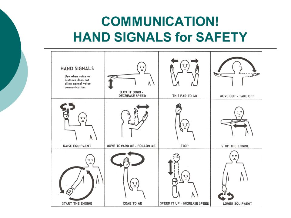 COMMUNICATION! HAND SIGNALS for SAFETY