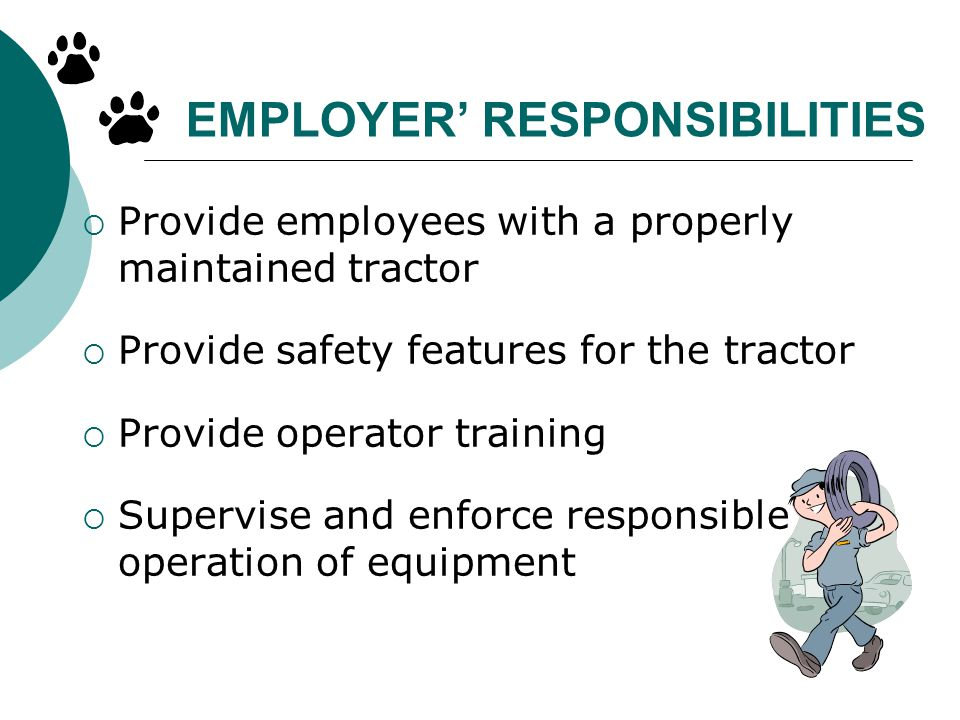 EMPLOYER' RESPONSIBILITIES
