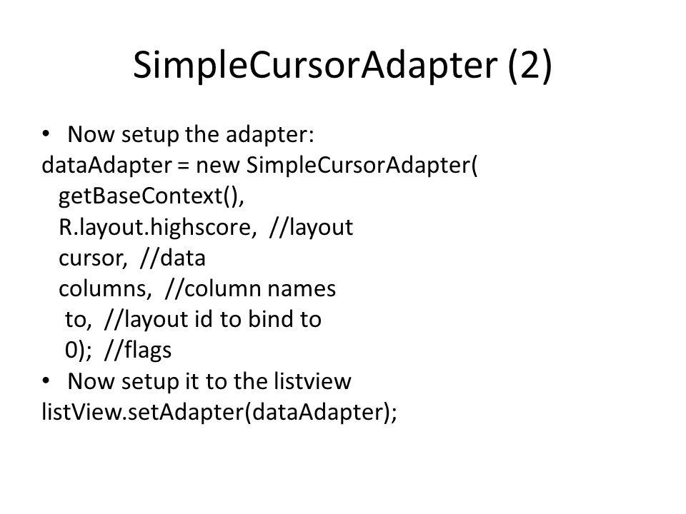 SimpleCursorAdapter (2)