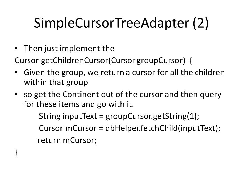 SimpleCursorTreeAdapter (2)