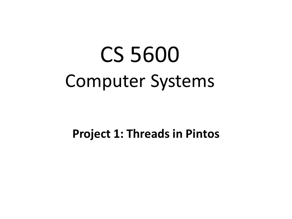 Christo Wilson Project 1: Threads in Pintos