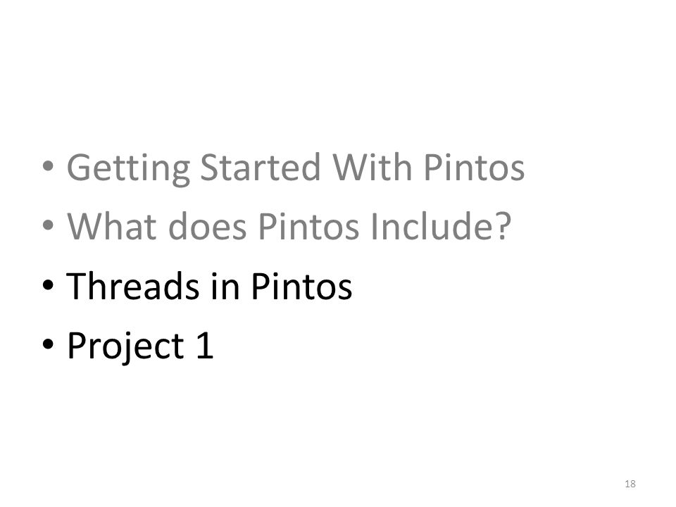 Getting Started With Pintos