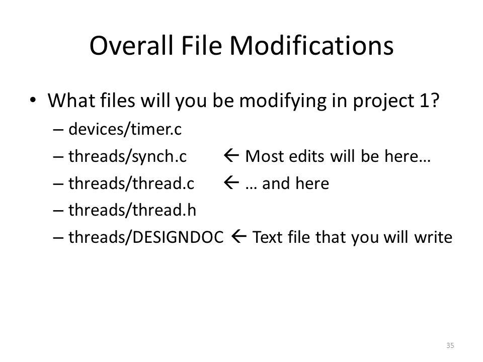 Overall File Modifications