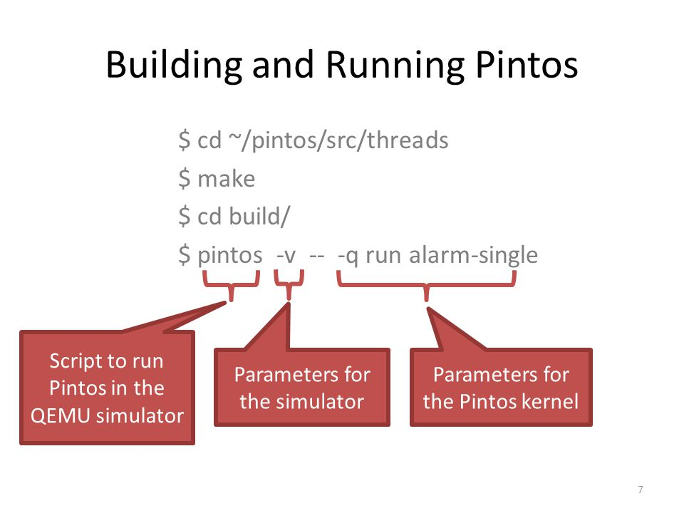 Building and Running Pintos