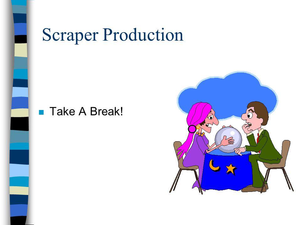 Scraper Production Take A Break!