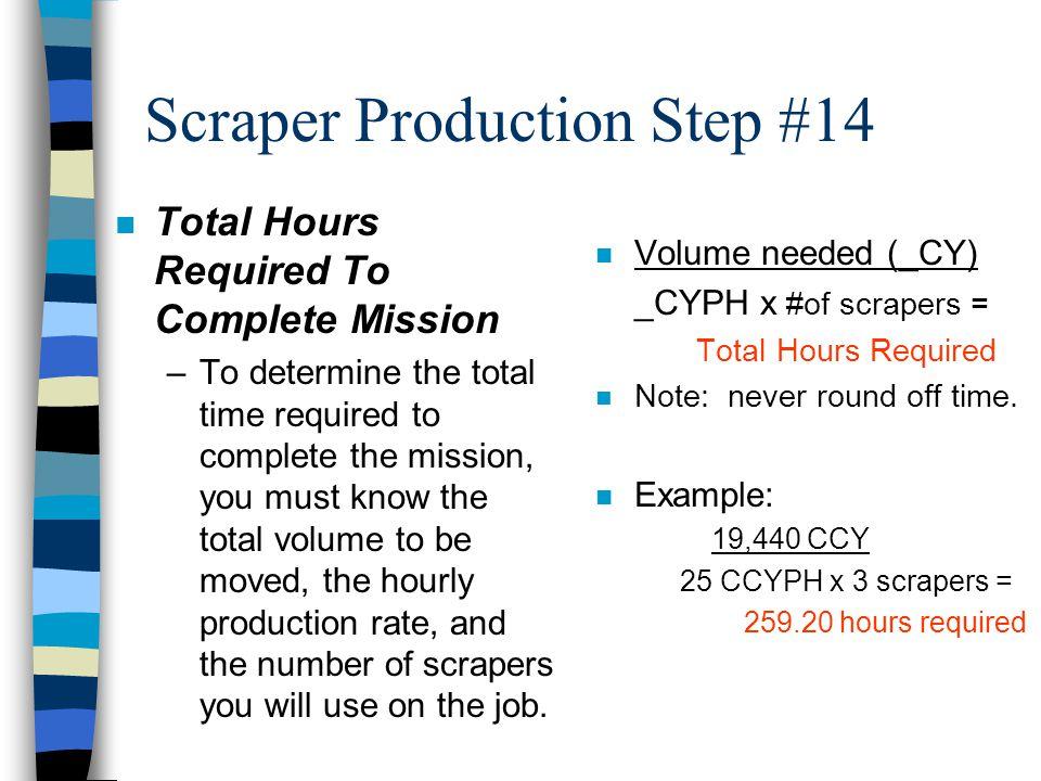 Scraper Production Step #14