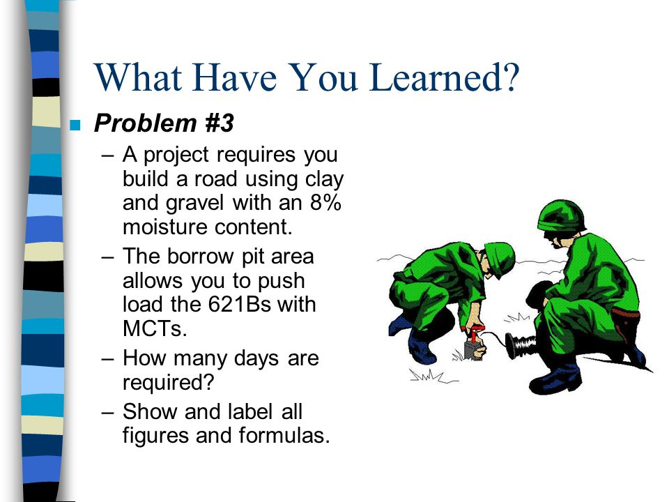 What Have You Learned Problem #3