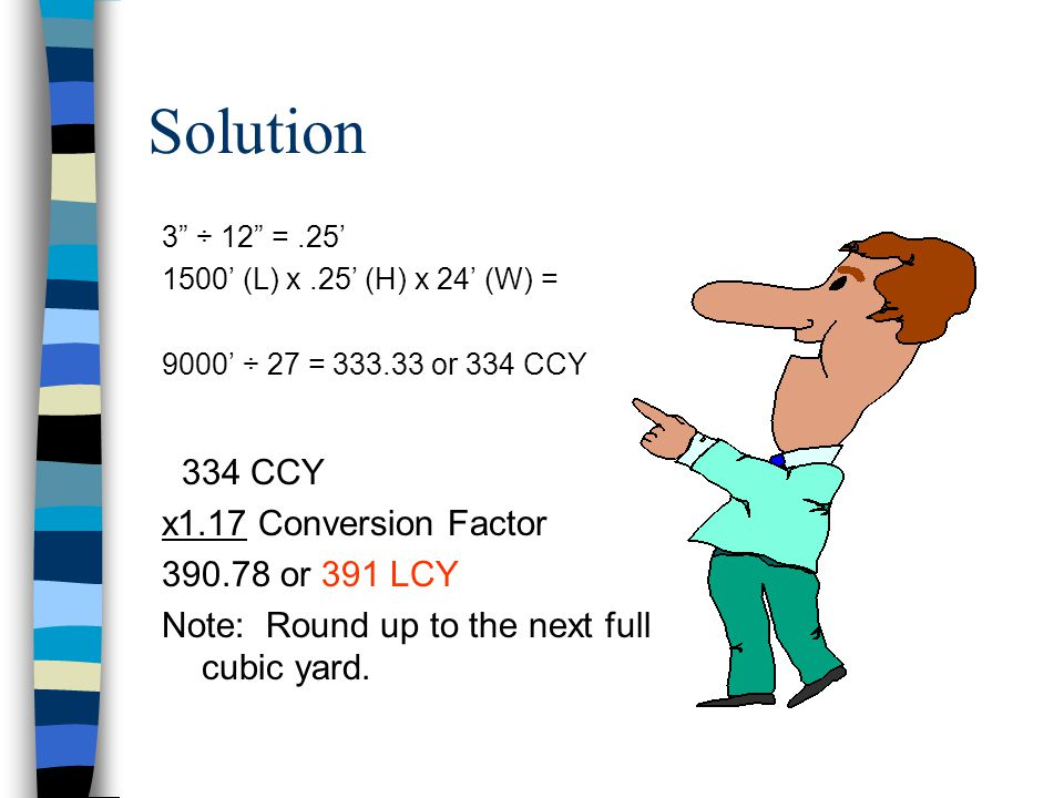 Solution 334 CCY x1.17 Conversion Factor 390.78 or 391 LCY
