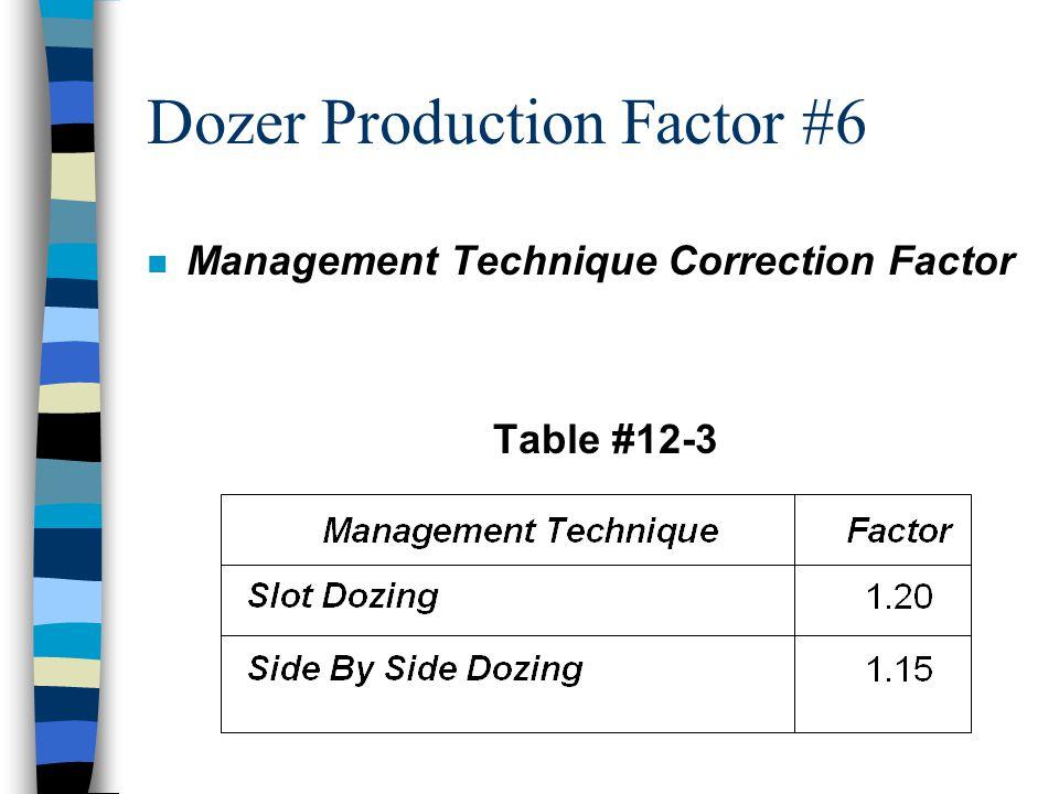 Dozer Production Factor #6