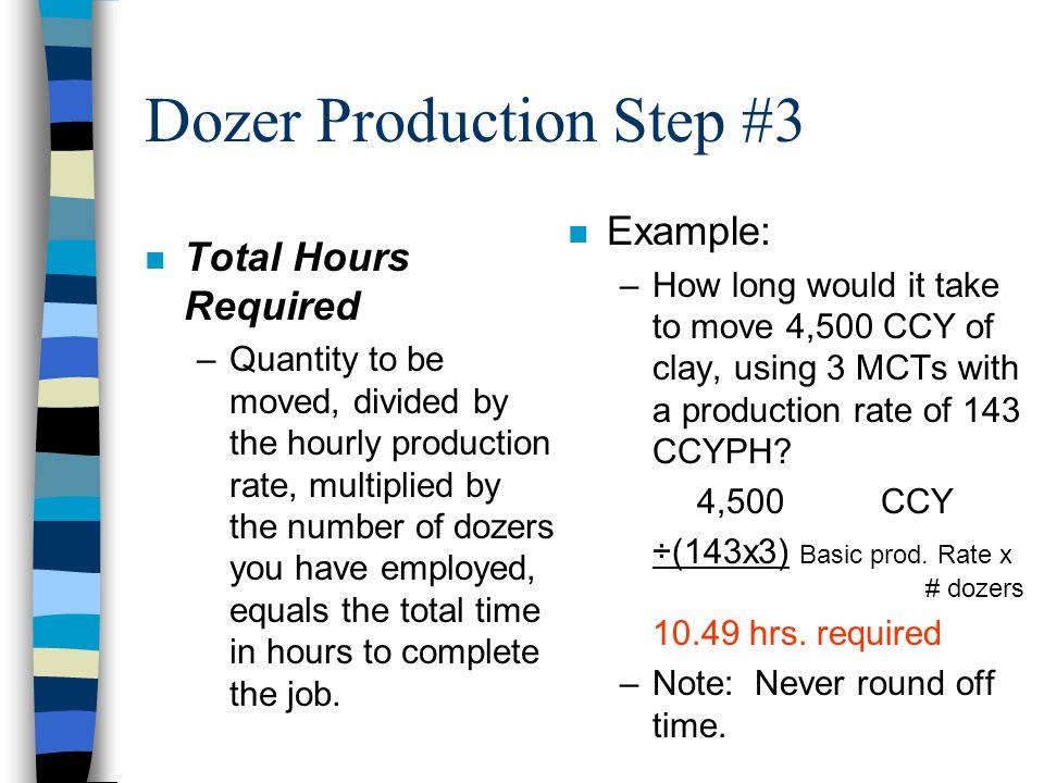 Dozer Production Step #3