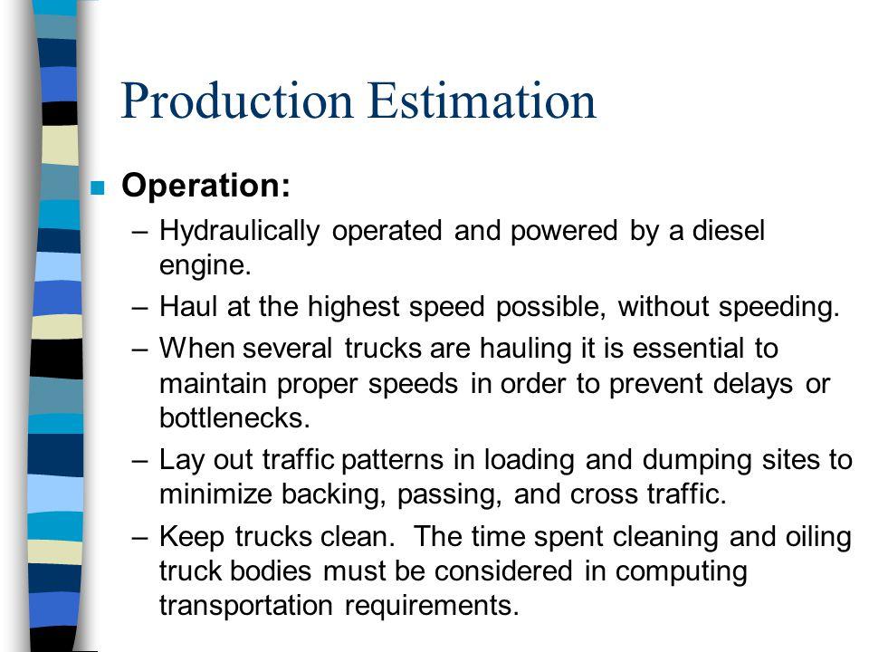 Production Estimation