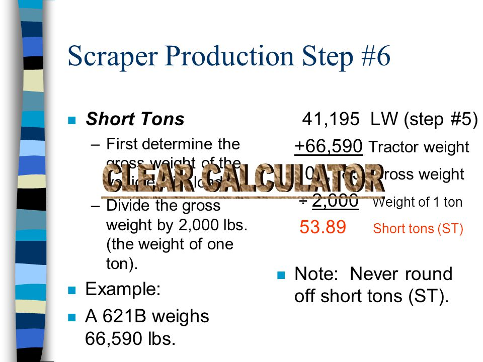 Scraper Production Step #6