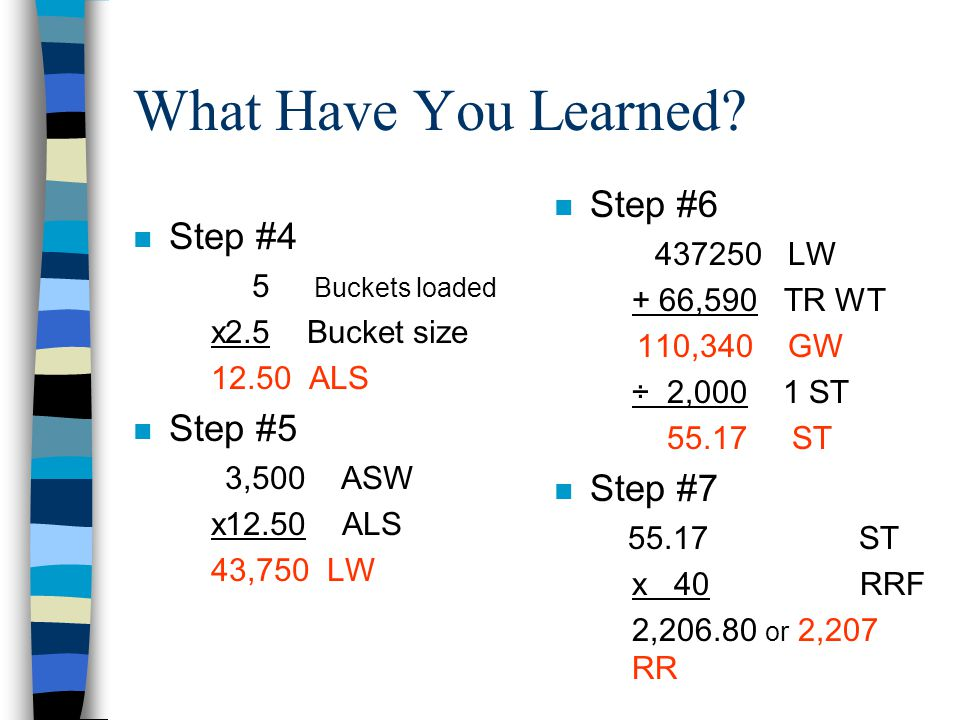 What Have You Learned Step #6 Step #4 Step #5 Step #7 437250 LW