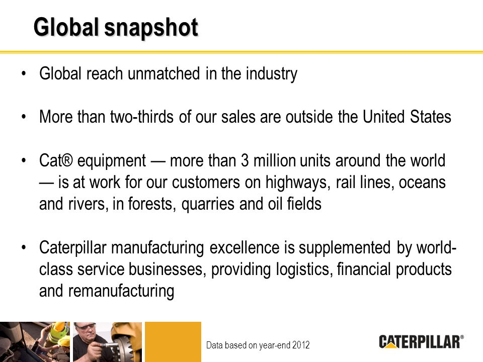 Global snapshot Global reach unmatched in the industry