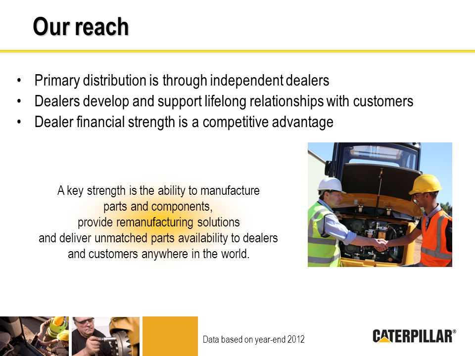 Our reach Primary distribution is through independent dealers