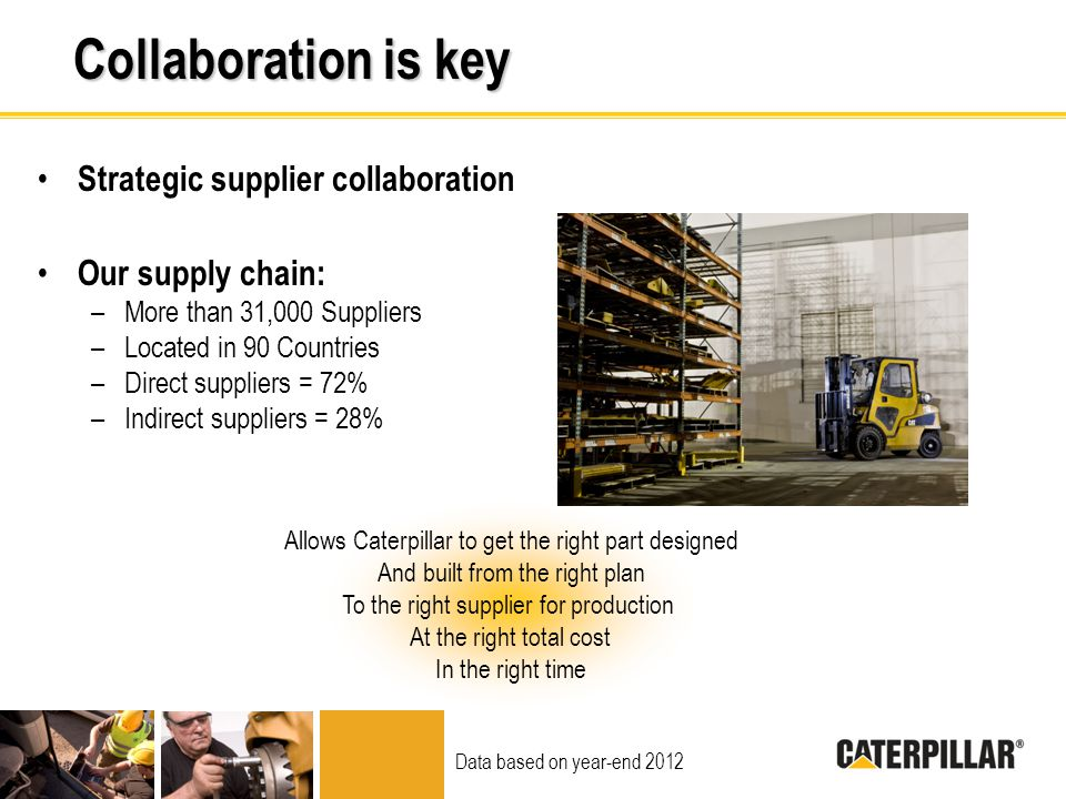 Collaboration is key Strategic supplier collaboration