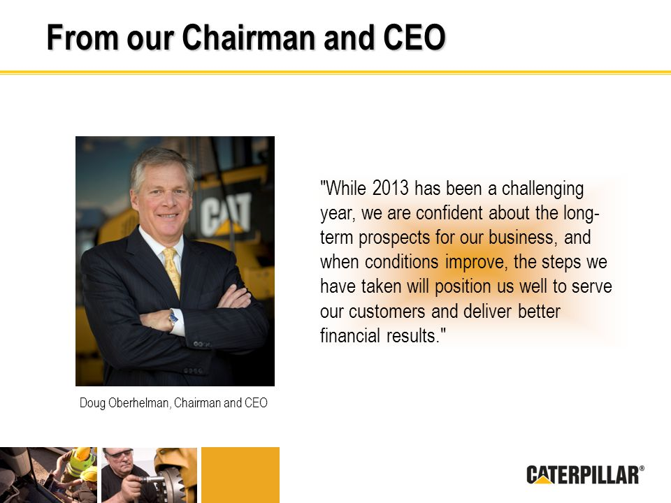 From our Chairman and CEO