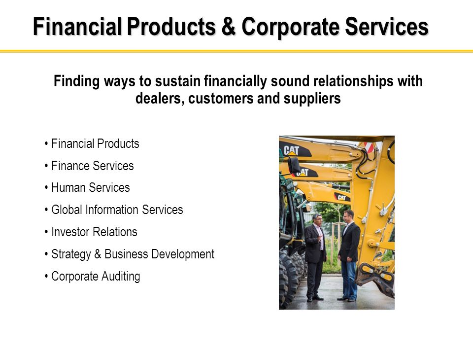 Financial Products & Corporate Services