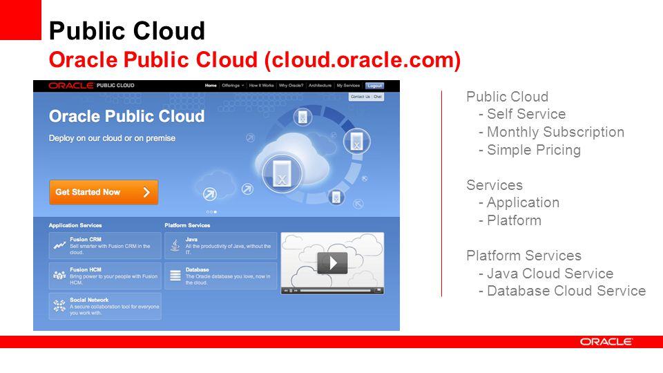 Public Cloud Oracle Public Cloud (cloud.oracle.com)
