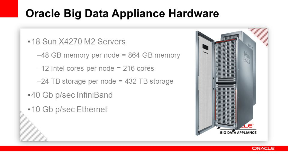 Oracle Big Data Appliance Hardware