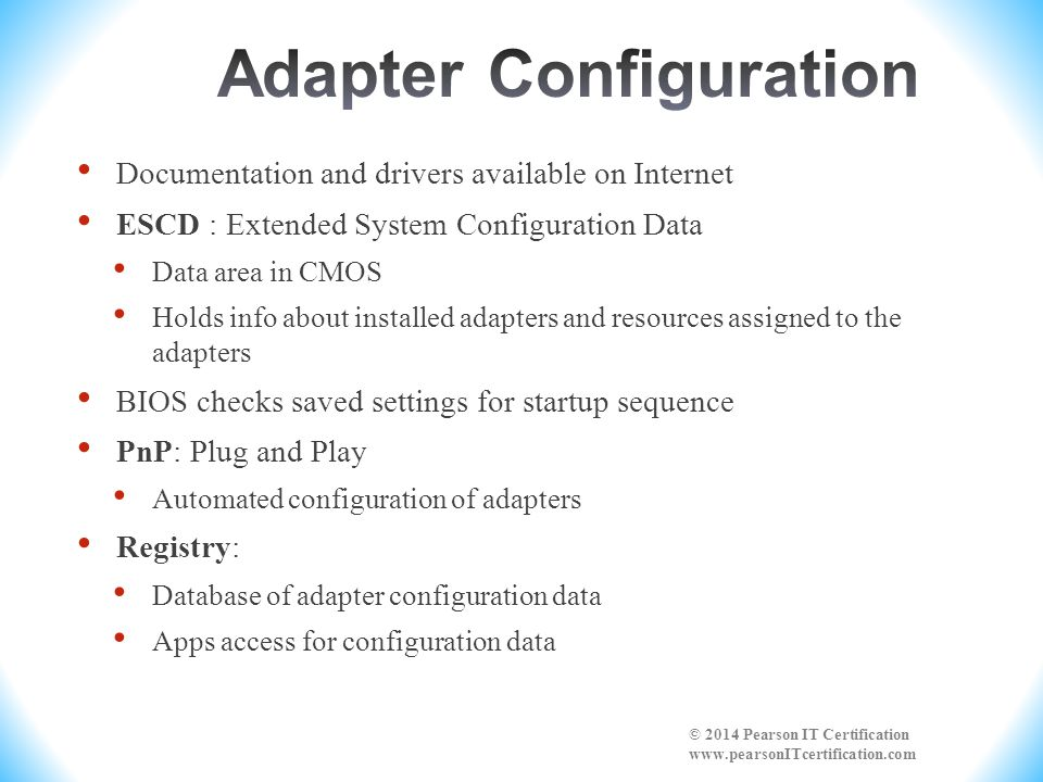 Adapter Configuration