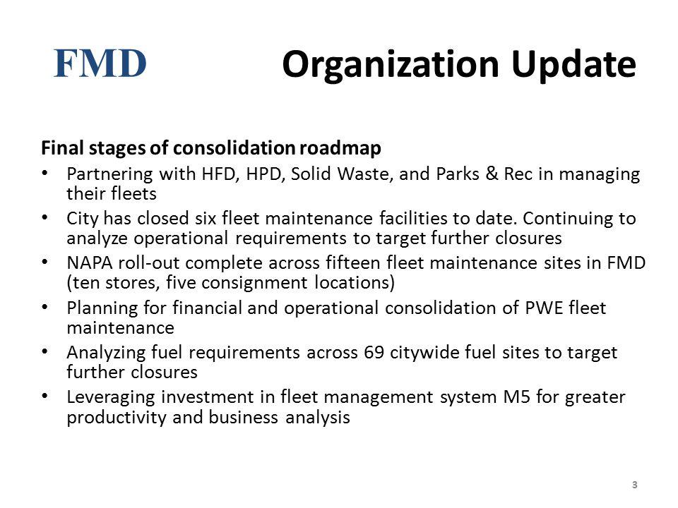 FMD Organization Update