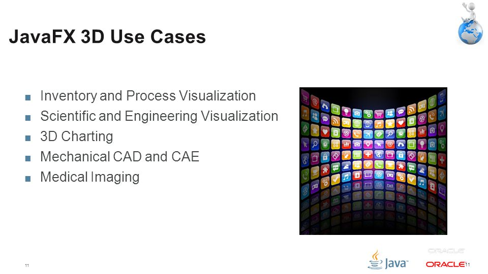 JavaFX 3D Use Cases Inventory and Process Visualization