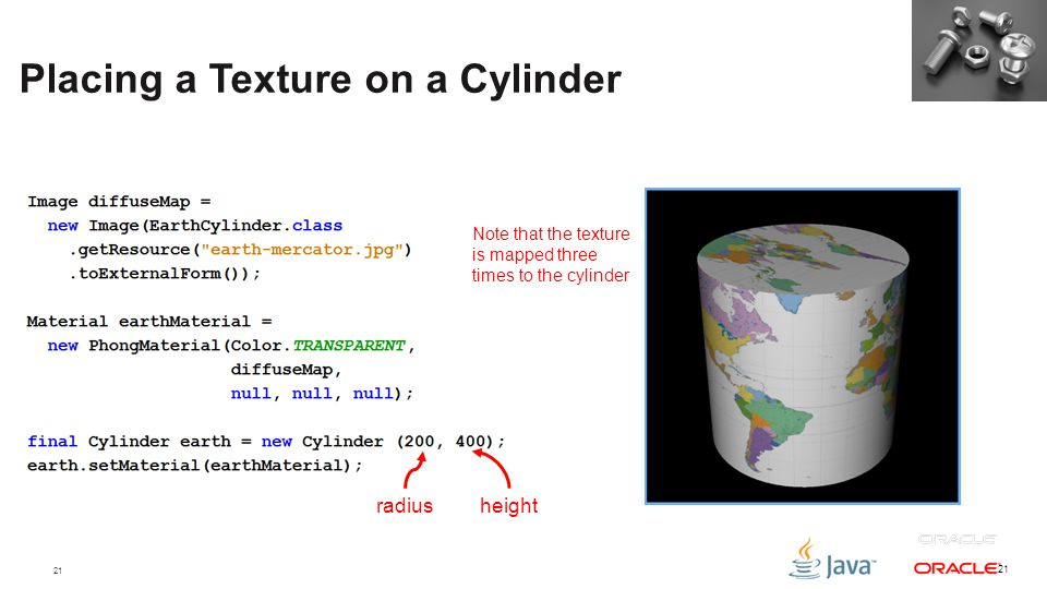 Placing a Texture on a Cylinder