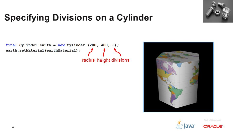 Specifying Divisions on a Cylinder
