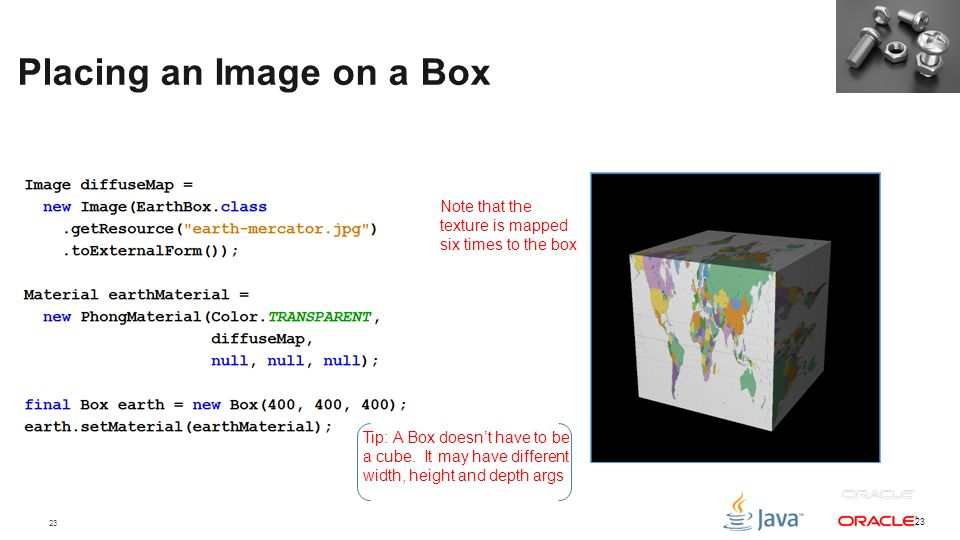 Placing an Image on a Box