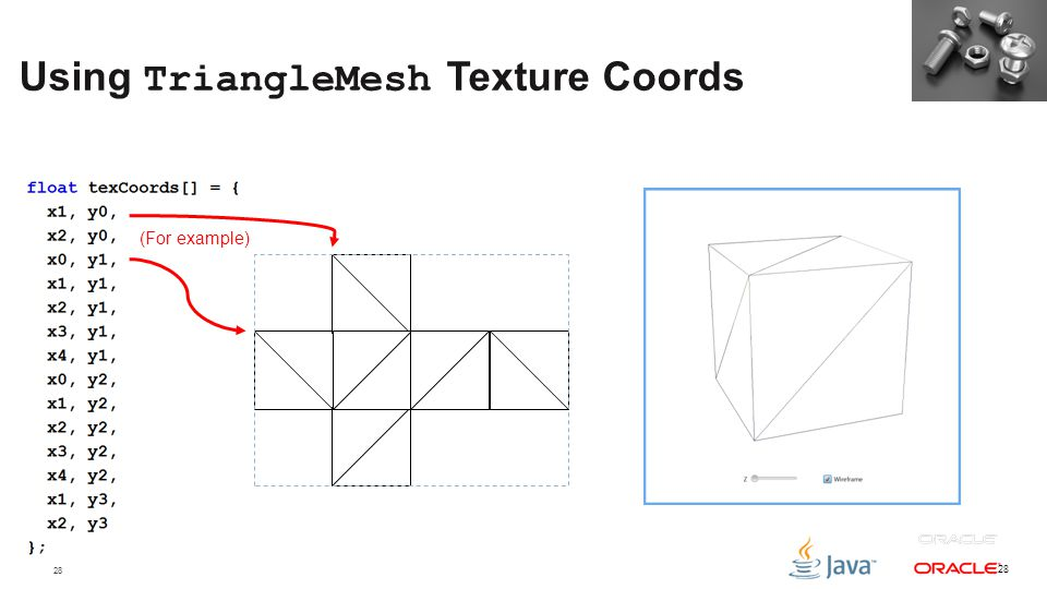 Using TriangleMesh Texture Coords