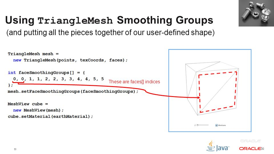 Using TriangleMesh Smoothing Groups
