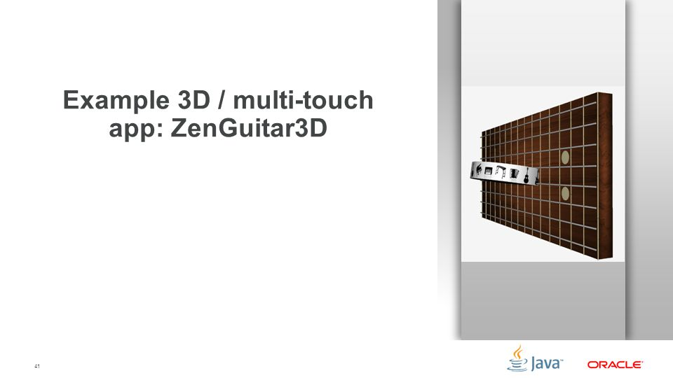 Example 3D / multi-touch app: ZenGuitar3D