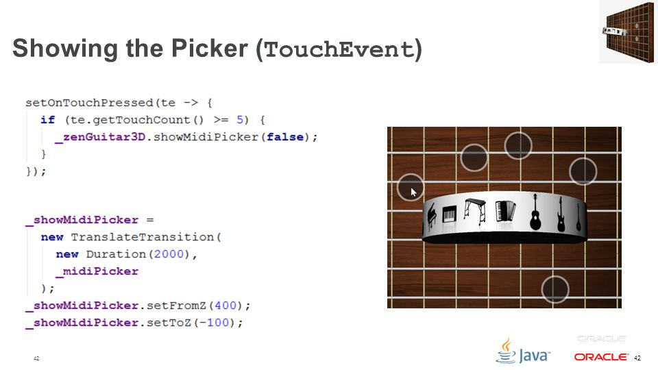 Showing the Picker (TouchEvent)