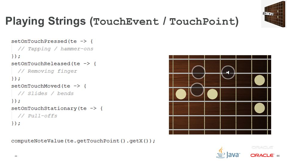 Playing Strings (TouchEvent / TouchPoint)
