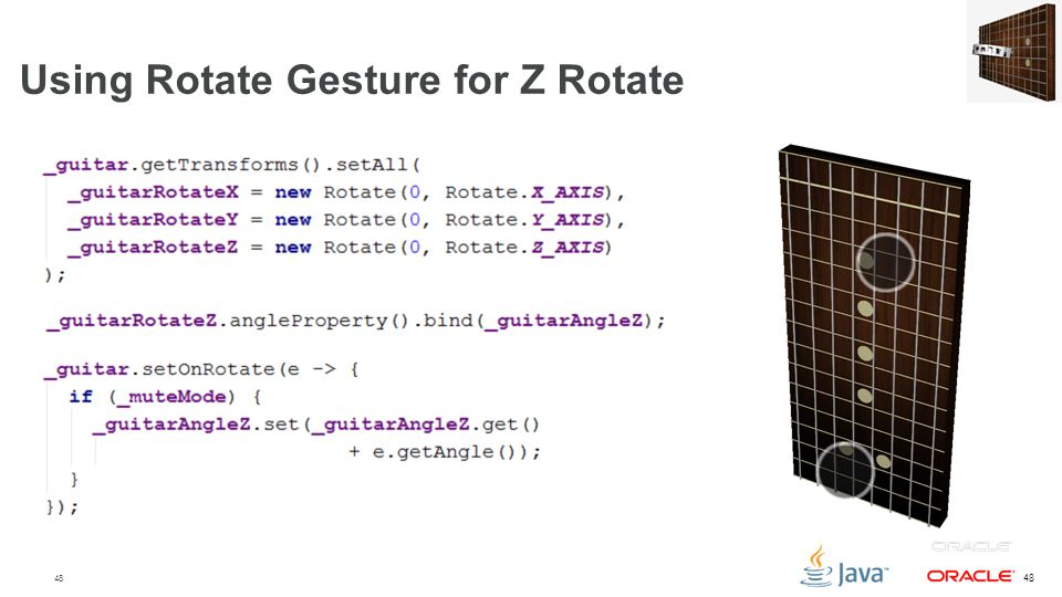 Using Rotate Gesture for Z Rotate