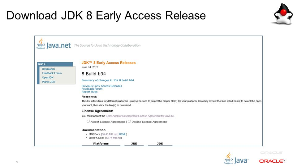 Download JDK 8 Early Access Release