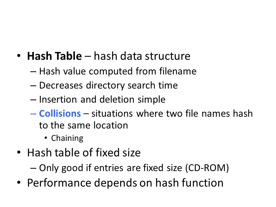 Hash Table – hash data structure